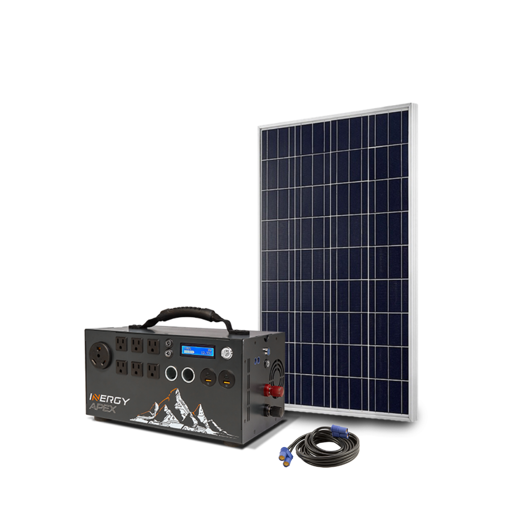 Apex Portable Solar Power Station With Free Solar Storm Panel And Cabl Inergy Solar In 2020 Solar Power Station Portable Solar Power Free Solar