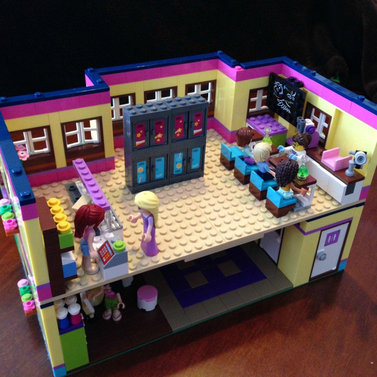 Modular lego friends high school lego high school and school - Ecole lego friends ...