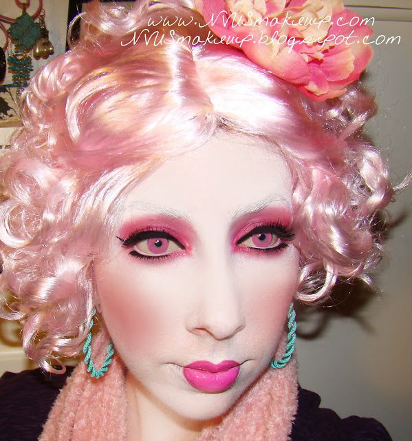 NVUS Makeup: Halloween Makeup...Effie Trinket, Happy Hunger Games ...