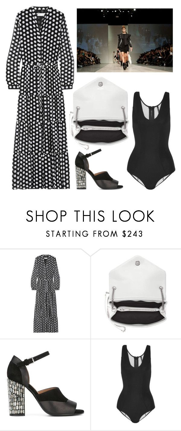 """""""Untitled #8573"""" by cherieaustin ❤ liked on Polyvore featuring MICHAEL Michael Kors, Yves Saint Laurent, Marni, Lisa Marie Fernandez and Lauren Bagliore"""
