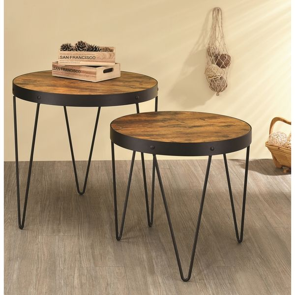 Coaster Furniture Honey Cherry Nesting End Tables   901944