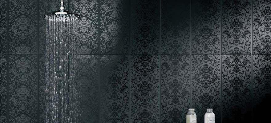Damask Wall Tile Black Damask Tile Tiling Forum Tilers Forum Damask Tile Damask Wall Patterned Bathroom Tiles