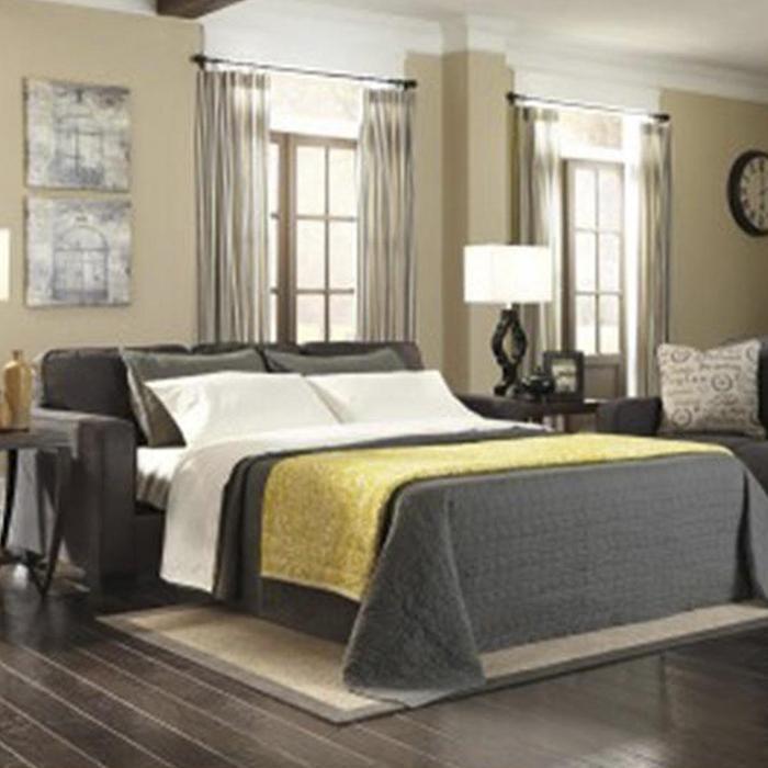 Alenya Queen Sofa Sleeper In Charcoal Nebraska Furniture Mart
