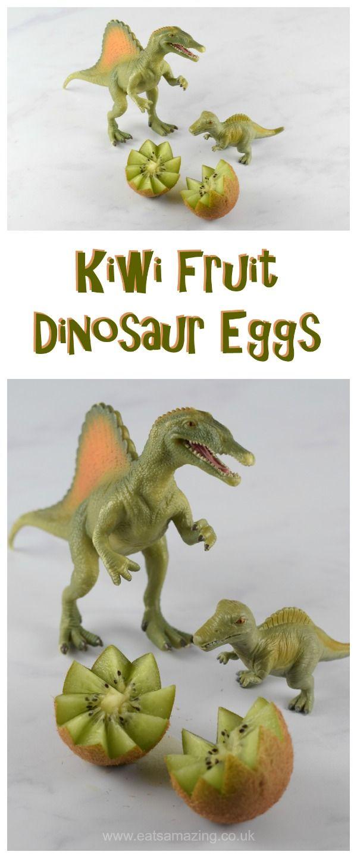 Fun Food Tutorial - Kiwi Fruit Dinosaur Eggs - make healthy fun food ...