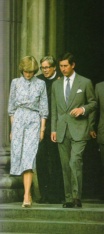 July 27, 1981: Prince Charles & his fiancé, Lady Diana Spencer leaving their wedding rehearsal at St. Paul's Cathedral.