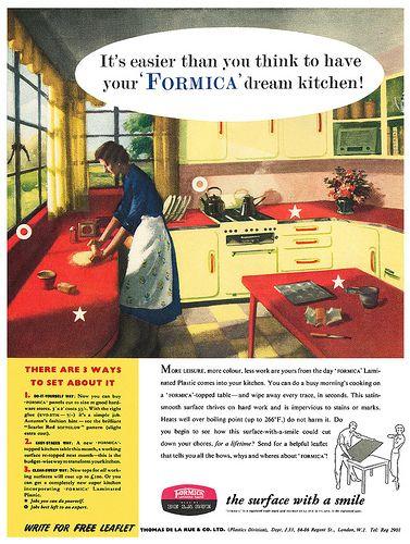 Formica advertisement Formica Vintage Adverts Pinterest Stove