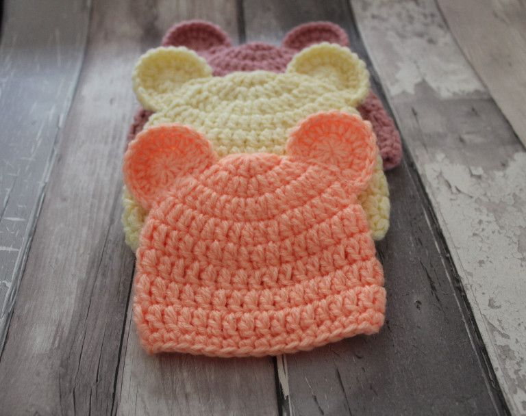 Baby teddy bear hat crochet pattern | Crochet | Pinterest