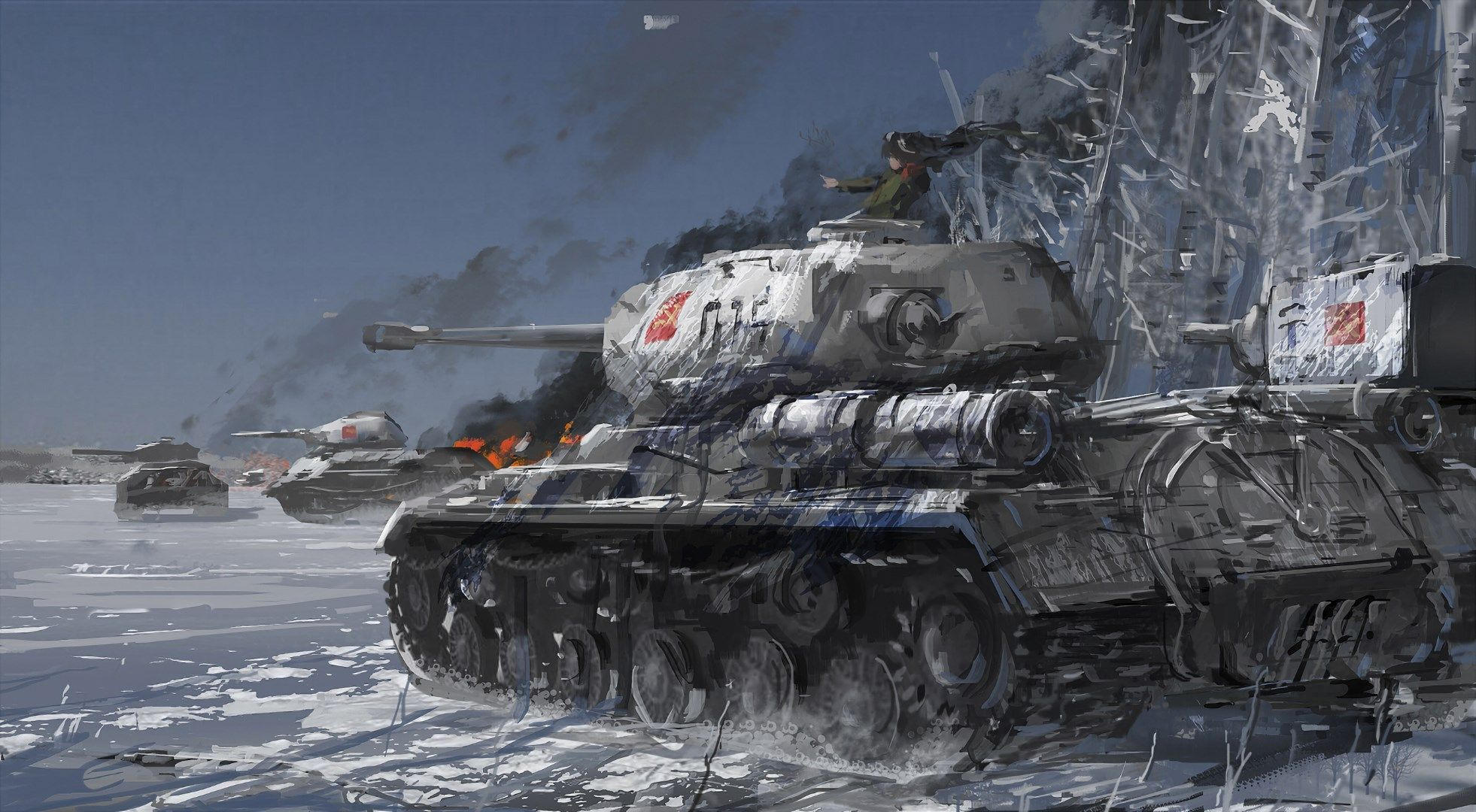 1962x1080 Wallpaper Desktop Girls Und Panzer Anime Military Anime Tank Military Drawings