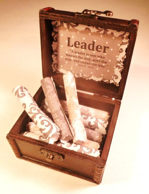 Leadership Scroll Box! 21 inspirational quotes about leadership in ...