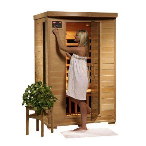 Hanko 2 Person Pre-Built FAR Infrared Sauna - 6 Premium C...