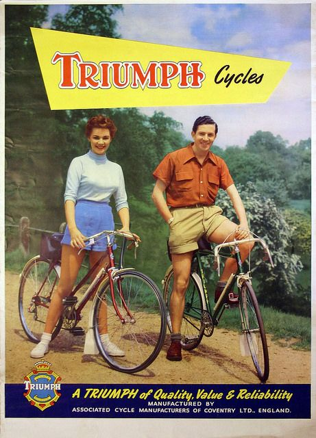 Triumph Bicycle Advert Value Reliability Bike Poster Bicycle