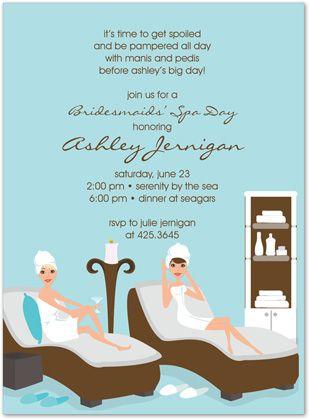 Spa Themed Bridal Shower Invitation Spa Bridal Shower Spa Party Invitations Spa Bachelorette Parties