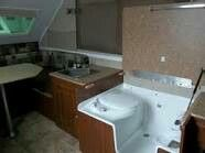 An A Frame Trailer With A Combo Shower Toilet A Frame