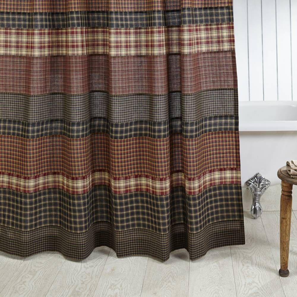 Red And Blue Plaid Shower Curtain
