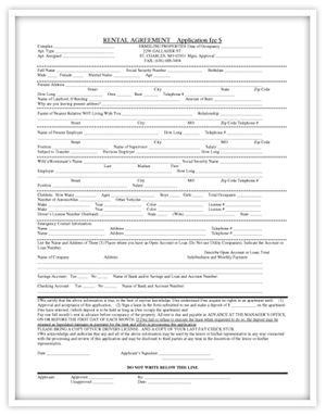 Print Out Lease Agreement  Our Rental Agreement Application