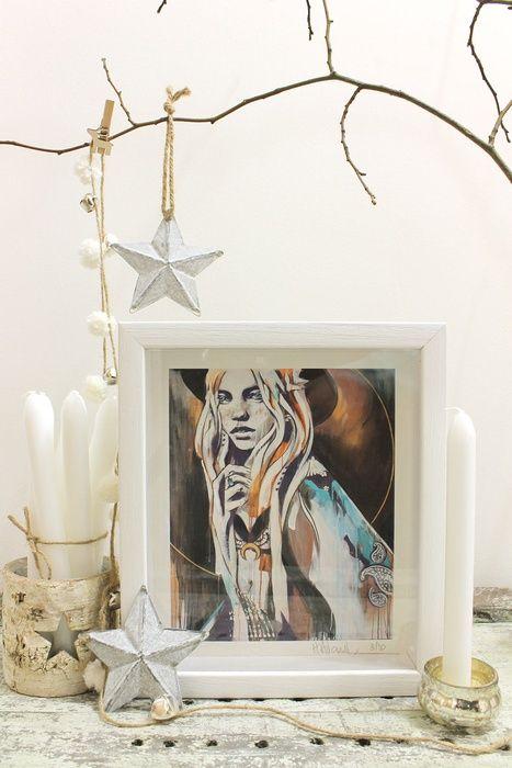 Smoke Stack Lightning, Giclée print by Hannah Adamaszek | Artfinder