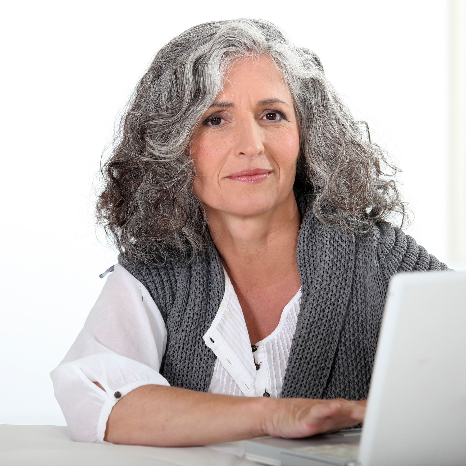 Gray haired mature picture