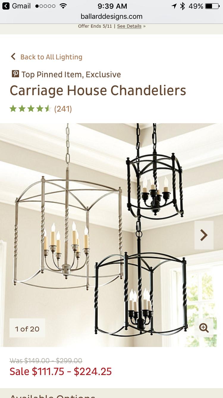 Luxury Carriage Pendant Light