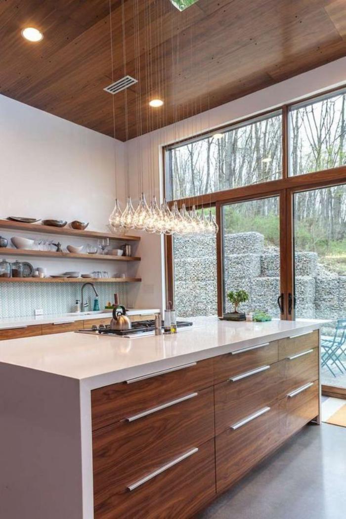 La Cuisine Blanche Et Bois En 102 Photos Inspirantes Home Decor