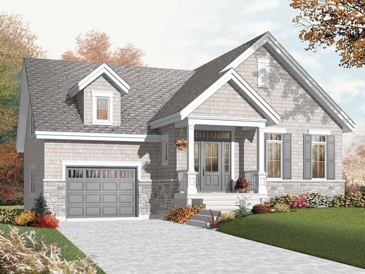 Eplans Craftsman House Plan - One Bedroom Craftsman - 1054 Square Feet and 1 Bedroom from Eplans - House Plan Code HWEPL67664