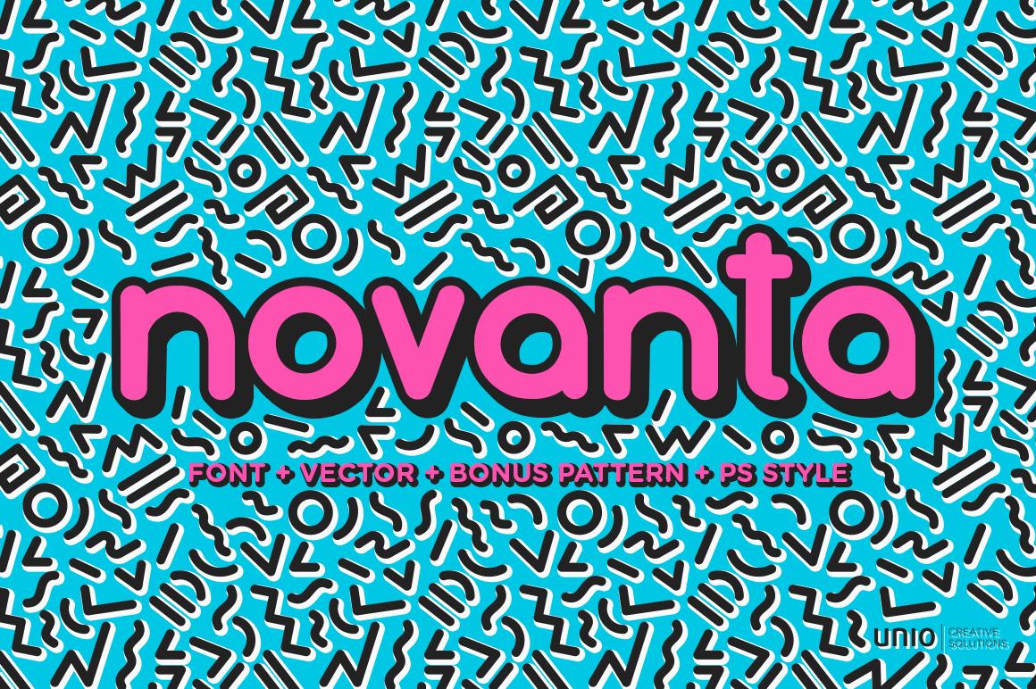 """Unio   Creative Solutions presents """"Novanta"""". Shop at j.mp/novanta  #CreativeMarket @CreativeMarket"""