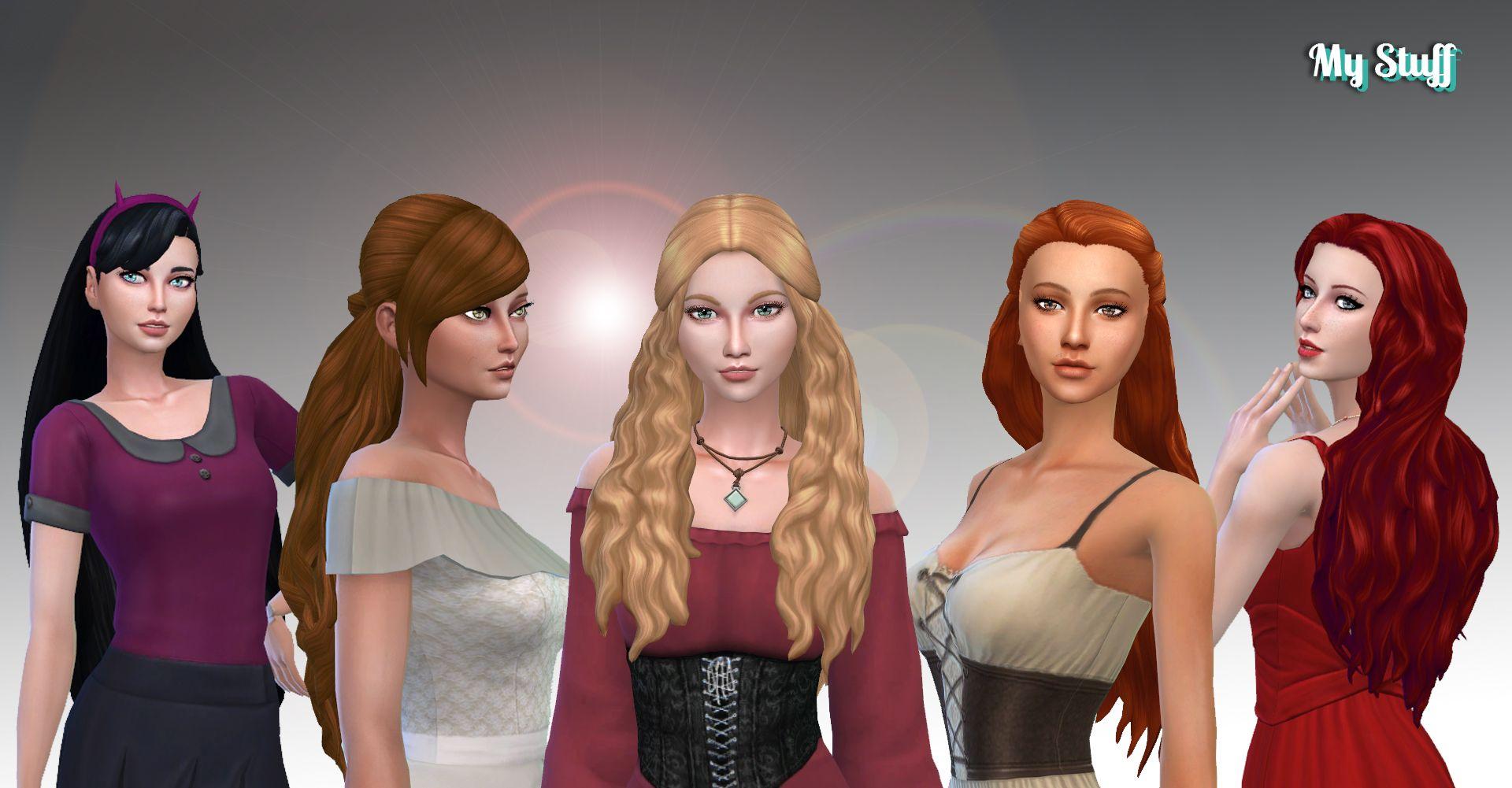 Female Long Hair Pack 17 Long Hair Styles Hair Pack Sims Hair