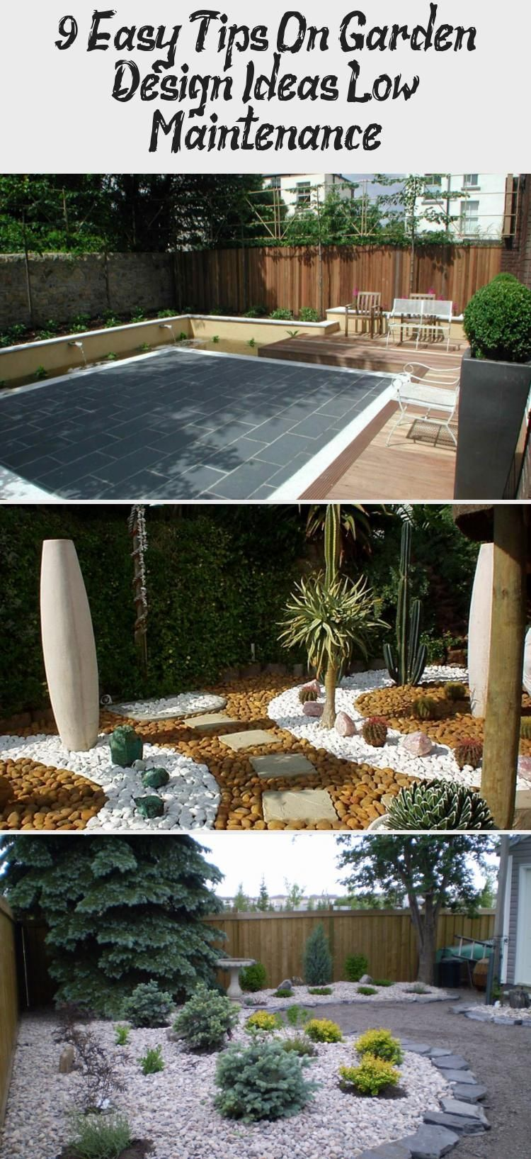 9 ideas for small, cheap and low maintenance gardens #low #ideas #small #beautifull #garden     If you are planning your terrace and are looking for a modern garden design, some inspirations could be quite useful. And then this article probably comes at the right place because we have selected minimalist outdoor areas and modern terraces, examples of which can serve as suggestions, if you want to create a modern terrace. Take a loo... #Design #Easy #Garden #Ideas #maintenance #Pinokyo #Tips #mod