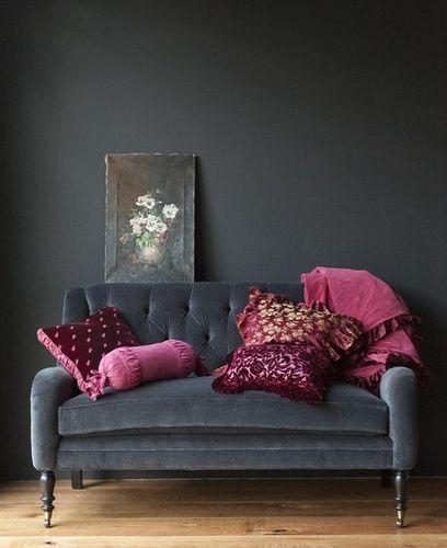 glamorous grey living room