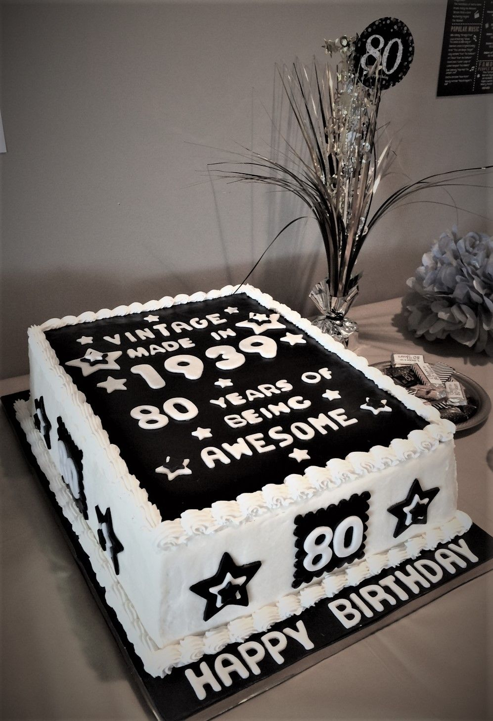 80th Birthday Cake Sheet Cakes For Birthdays Vintage Birthday Cakes Men S Birthday Cakes Vintage Birthday Cakes 80 Birthday Cake 80th Birthday