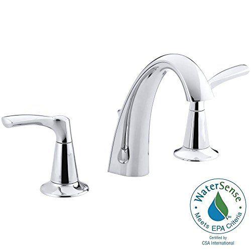 Bathroom Faucets DIY | Kohler KR370264DCP Mistos 8 Inch Widespread 2Handle Bathroom  Faucet Polished Chrome *