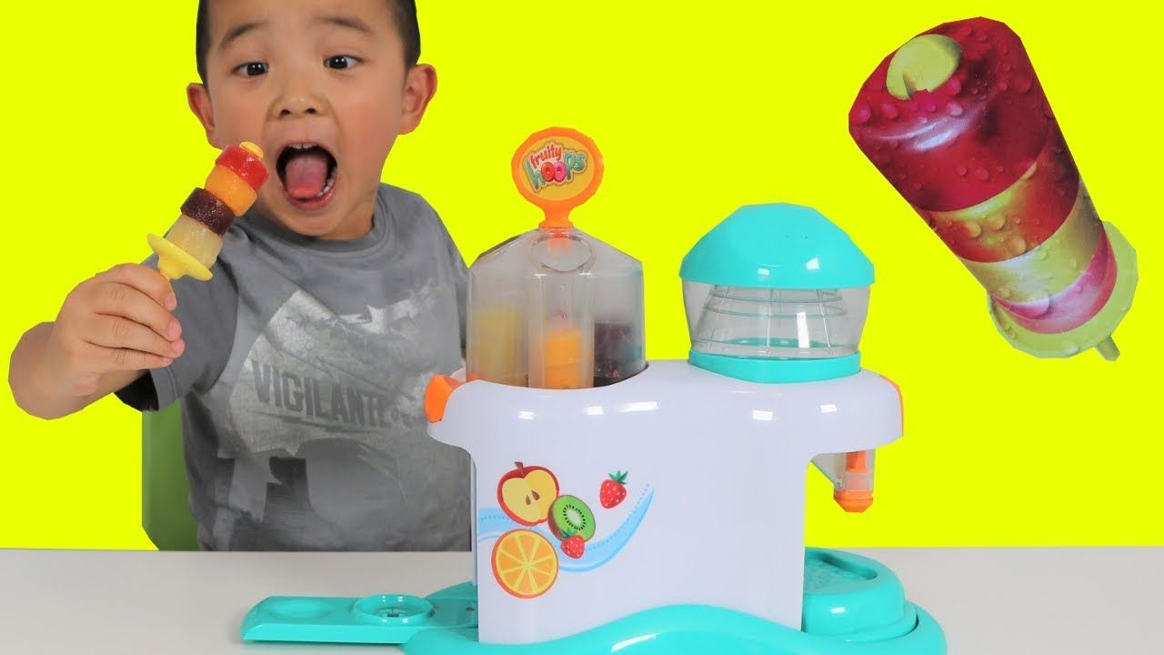 Haircut for men korean 2018 making icy pop fruity hoops factory fun diy yummy kids popsicle