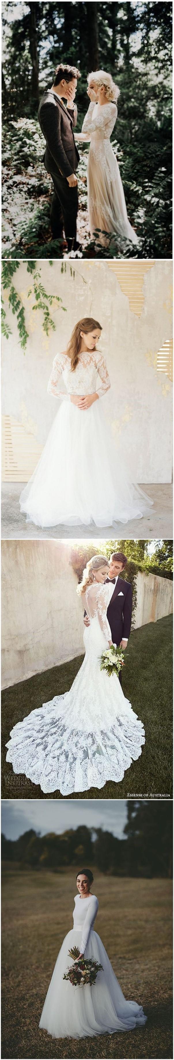 Long wedding dress  Wedding Dresses   Stylish Long Sleeve Wedding Dresses to Rock