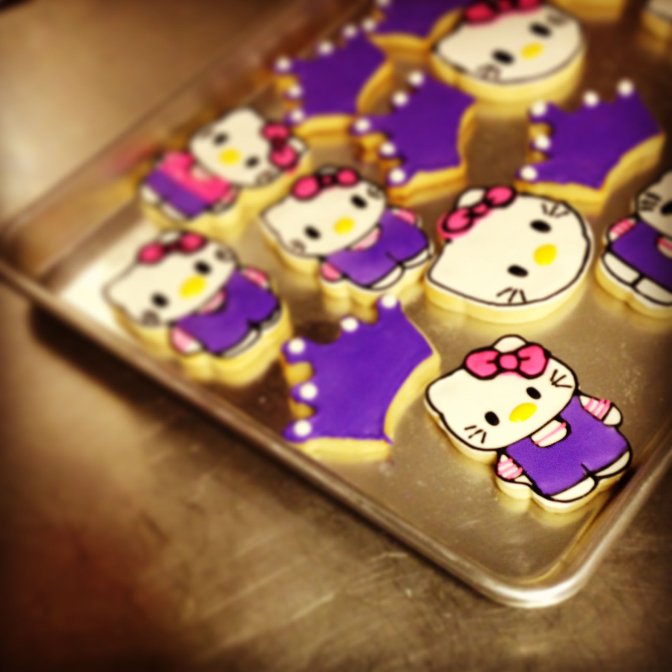www.sweetelizabethcakes.com  #Hello Kitty #Decorated Sugar Cookies #Purple #cup cakes #Southern Louisiana.....:..Sweet Elizabeth Cake Designs