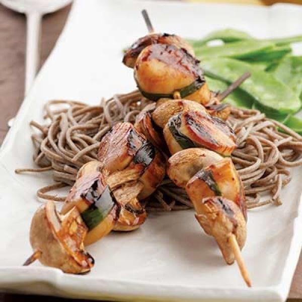 Scallops Yakitori | KitchenDaily.com