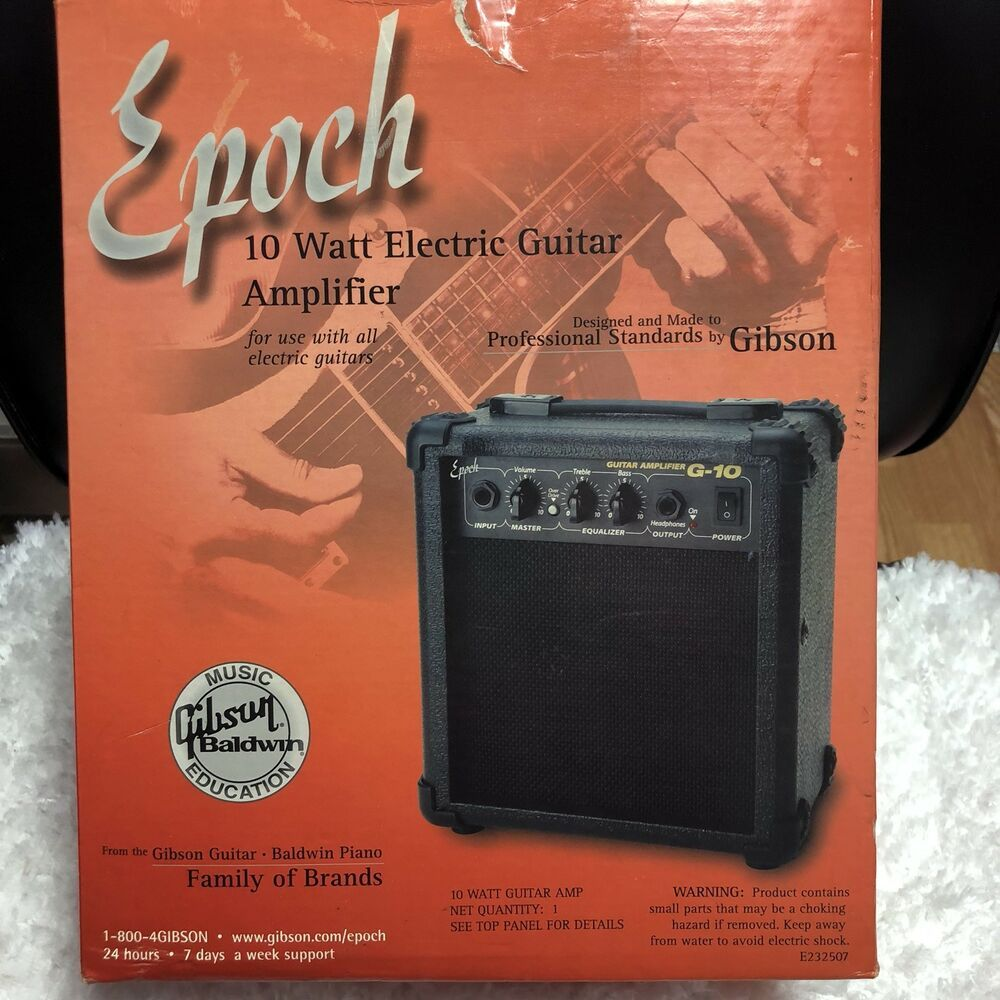 Gibson Epoch 10 Watt Electric Guitar Amplifier For Use With All Electrical Guita Ebay Used Guitars Guitar Baldwin Piano
