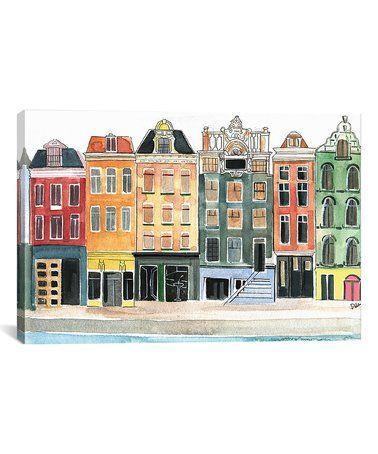 Amsterdam Wrapped Canvas Zulily Zulilyfinds Canvas Prints Orange Wall Art Canvas Artwork