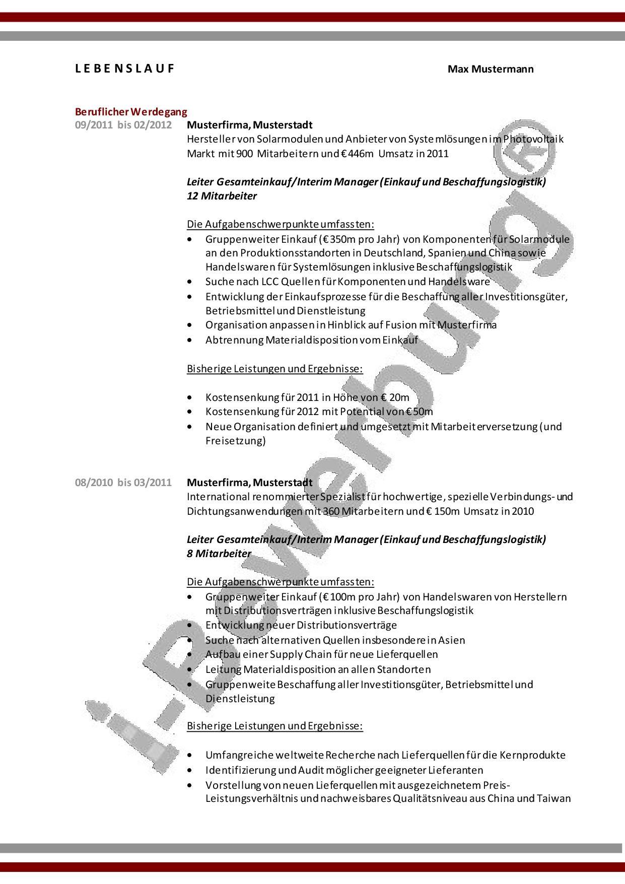 Nett Richtlinien Für Einen Guten Lebenslauf Ideen - Entry Level ...