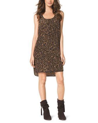 MICHAEL Michael Kors  Printed High-Low Tank Dress.