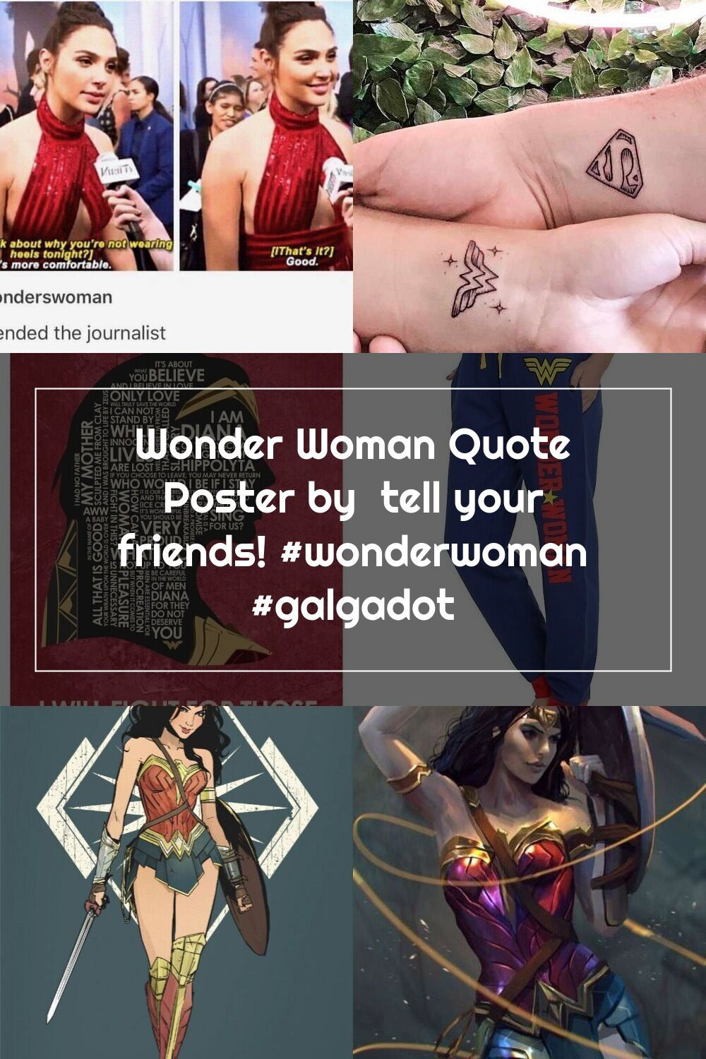 Wonder Woman Quote Poster By Tell Your Friends Wonderwoman Galgadot In 2020 Woman Quotes Wonder Woman Quotes Quote Posters