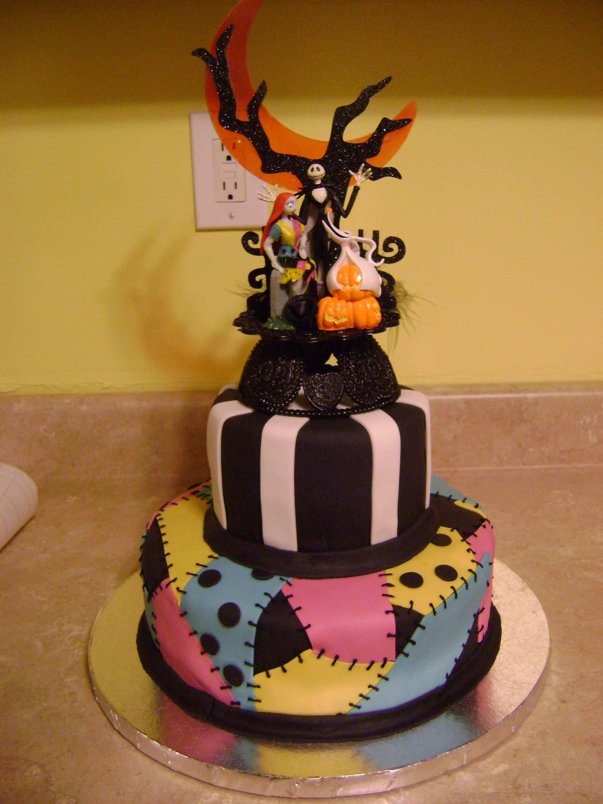 Nightmare Before Christmas Wedding Cake - This cake was done for a ...