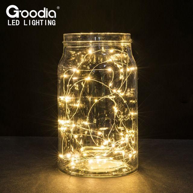 STANBOW - Guirnalda de luces led alambre de cobre, para centros de mesa, vacaciones, bodas, fiestas, decoraci/ón interior y exterior, 2 m, c/álida