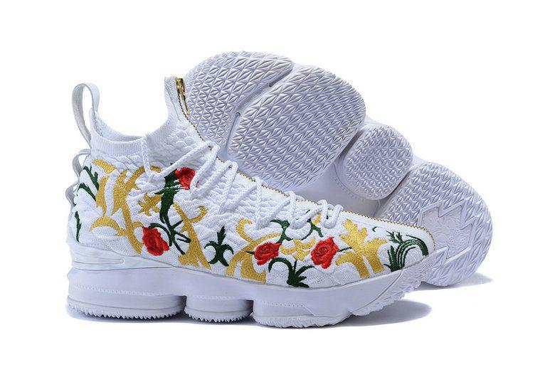 e4fb52788f77b 2018 Newest Mens Nike Lebron XV EP Basketball Shoe Floral Toe White ...