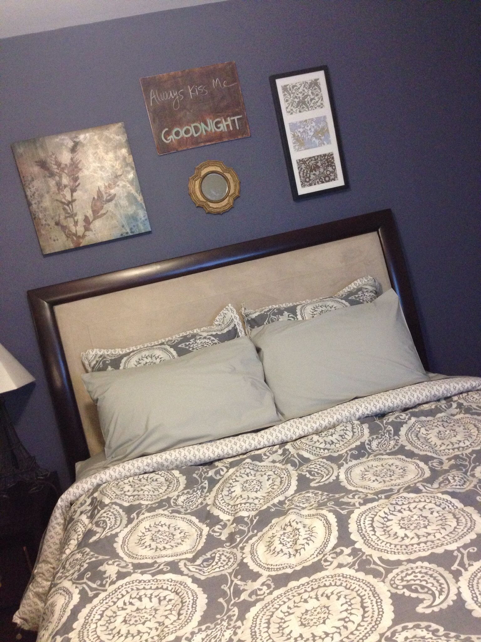 master bedroom purple slate inspiration :) glidden paint in stormy