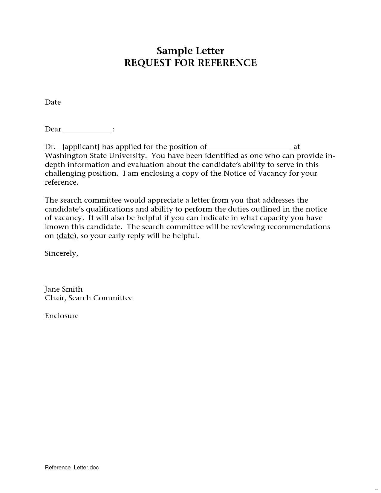 How to ask someone to write recommendation letter - Reference