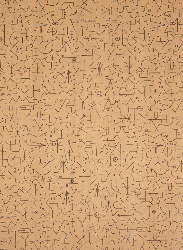 "Alvin Lustig, textile design ""Incantation"", 1947. Via Cooper Hewitt."