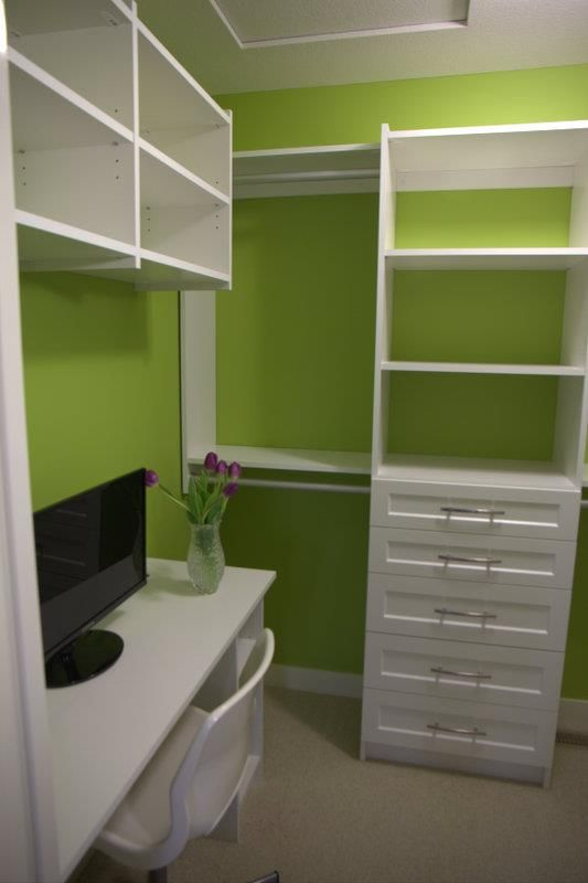 Happy Green Master Closet Before After