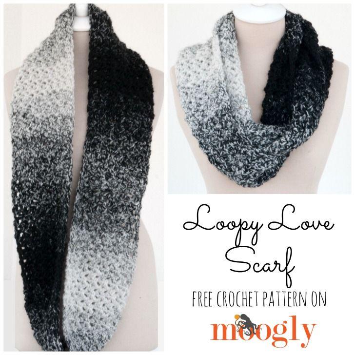 Loopy Love Scarf | Pinterest | Tejido, Tejidos de punto y Infinito