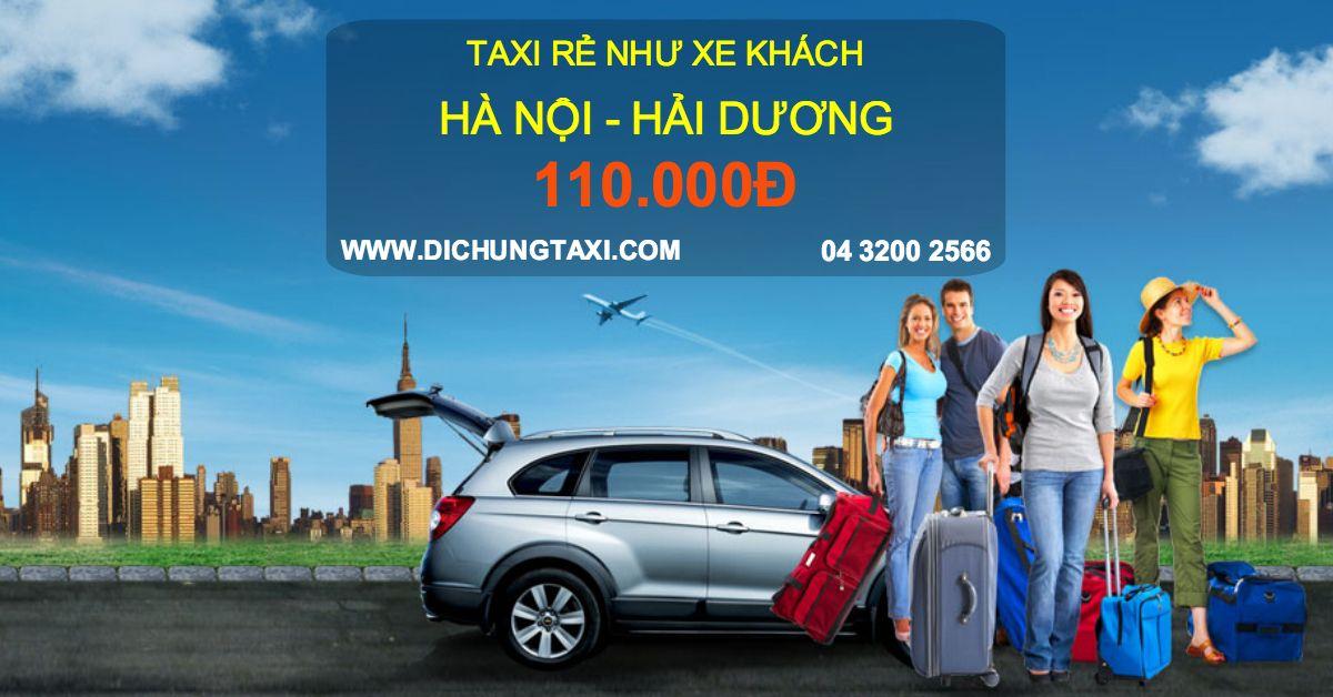 Taxi đường dài giá siêu rẻ tuyến Hà Nội Hải Dương