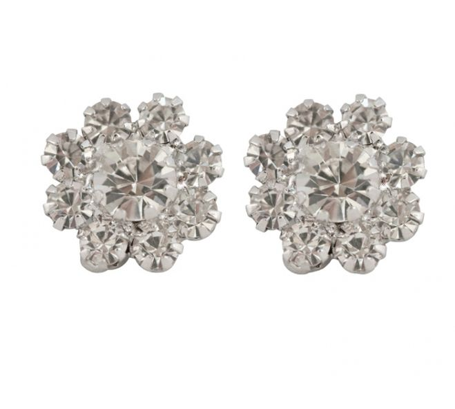 Stunning Classic Crystal Flower Earrings by Lovett & Co.