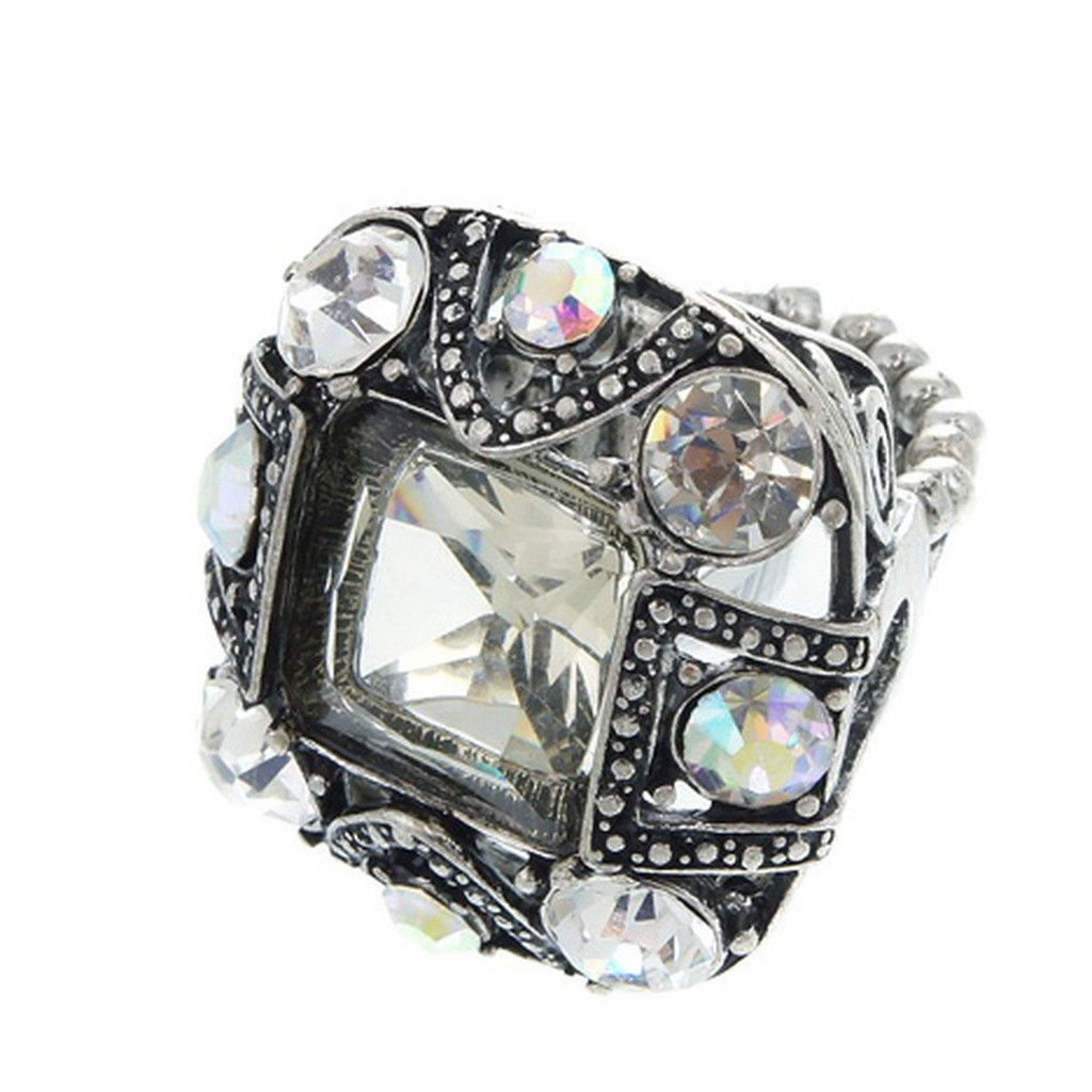 Large Antique Silver Mens Ring Pearl
